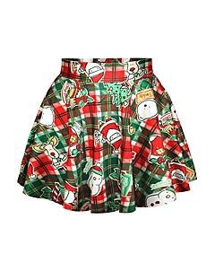 billige julen Kostymer-julenissen Snømann Skjørt Dame Jul Festival / høytid Halloween-kostymer Regnbue Printer