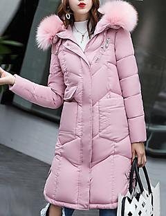 Damen Mantel Einfach Lässig/Alltäglich Solide-Polyester Polyester Langarm