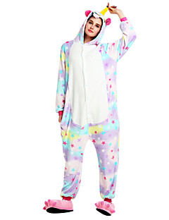 Kigurumi Pajamas Flying Horse Unicorn Onesie Costume Flannel Fabric Rainbow Cosplay For Adults Animal Sleepwear Cartoon