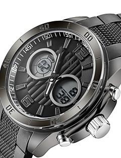 ASJ Men's Digital Watch Japanese Digital Water Resistant / Water Proof PU Band Black Blue