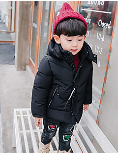 Boys' Solid Down & Cotton Padded Green Black Red