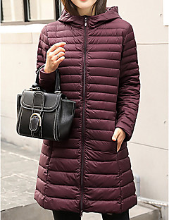 cheap Plus Size Outerwear-Women's Going out Cotton Long Down - Solid Colored