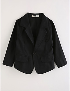 Boys' Solid Suit & Blazer,Cotton Long Sleeves Black