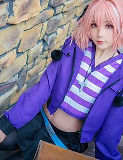 """Inspirert av Fate / Apokryfene Astolfo Anime  """"Cosplay-kostymer"""" Cosplay Klær Trykt mønster Skjørt Frakk Sokker Midjebelte T-Trøye Til"""