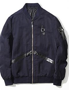 メンズ カジュアル/普段着 冬 ジャケット,シンプル プリント レギュラー ナイロン