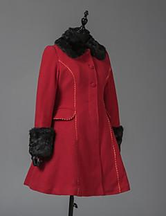 Geacă Steampunk® Haine Stil Vintage Englezesc Cosplay Rochii Lolita Roșu Manșon Lung Geacă Pentru Lână De Lână