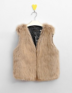 cheap -Women's Daily Weekend Simple Casual Street chic Winter Plus Size Regular Vest, Solid V Neck Faux Fur Stylish Slim