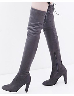 cheap -Women's Nubuck leather Fall / Winter Comfort / Fashion Boots Boots Over The Knee Boots Black / Gray / Red