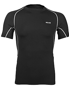 cheap Cycling Clothing-Arsuxeo Men's Short Sleeves Cycling Jersey - Gray Blue Black/Red Black+Sliver Light Green Bike Jersey, Quick Dry, Breathable