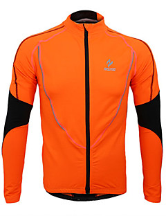 174f2c962 Arsuxeo Men s Cycling Jersey Cycling Jacket Bike Jersey Top Thermal   Warm  Fleece Lining Breathable Sports Polyester Fleece Winter Orange   Green    Blue ...