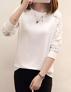 tanie SS 18 Trends-T-shirt Damskie Jendolity kolor Bawełna