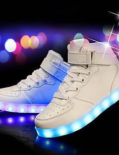 hesapli -Erkek Ayakkabı PU Kış Sonbahar Işıklı Ayakkabılar Spor Ayakkabısı Günlük Parti ve Gece için LED Beyaz Siyah Kırmzı