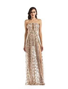 tanie SS 18 Trends-Damskie Sukienka swingowa Sukienka - Jendolity kolor Z odsłoniętymi ramionami Maxi