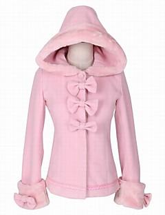 Steampunk® Cosplay Rochii Lolita Roz Culoare solidă Manșon Lung Manta Pentru Lână De Lână