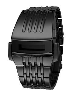 billige Digitalure-Herre Digital Watch Kinesisk Kalender / Kronograf / Vandafvisende Bånd Luksus / Afslappet / Elegant Sort / Sølv