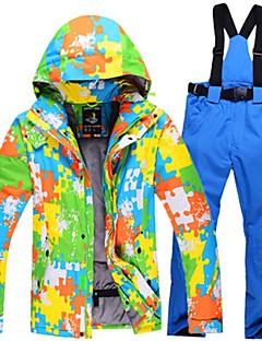 Homens Calças & Jaquetas de Esqui Quente Prova-de-Água A Prova de Vento Vestível Leve Respirabilidade Esqui Algodão