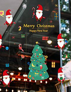 人 クリスマス ウインドウステッカー 材料 窓の飾り