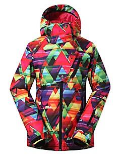 billiga Skid- och snowboardkläder-GSOU SNOW Dam Skidjacka Varm, Vattentät, Vindtät Skidåkning Miljövänlig Polyester, Silkesplagg Dunjackor Skidkläder