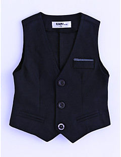 Boys' Solid Vest,Cotton Sleeveless Navy Blue
