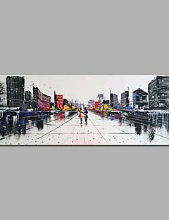 Χαμηλού Κόστους Σετ Σεντονιών & Μαξιλαροθήκες-Hang-ζωγραφισμένα ελαιογραφία Ζωγραφισμένα στο χέρι - Αφηρημένο Μοντέρνα Καμβάς