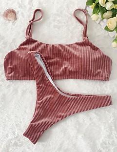 billige Bikinier og damemote 2017-Dame Grime Bandeau Bikini - Grunnleggende, G-streng Ensfarget