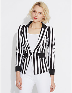 Women's Going out Casual/Daily Work Casual Spring Fall Blazer
