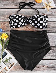 halpa -Naisten Pilkku,Bikini Uima-asut Pilkku,Nylon Niskalenkki Uima-allas Musta