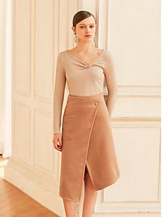 billige MASKED QUEEN-Dame Vintage A-linje Nederdele - Arbejde Ensfarvet