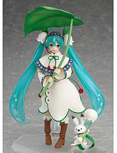 billige Anime cosplay-Anime Action Figurer Inspirert av Vokaloid Hatsune Miku 13 CM Modell Leker Dukke