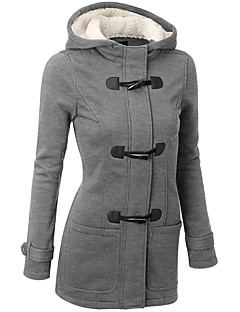 お買い得  レディースコート&トレンチコート-女性用 コート タートルネック ソリッド モダンスタイル