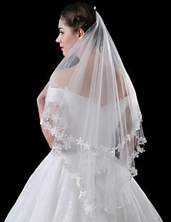 preiswerte Hochzeitsschleier-Einschichtig Moderner Stil Brautkleidung Prinzessin Simple Style Hochzeit Modern/Zeitgenössisch Hochzeitsschleier Ellbogenlange Schleier