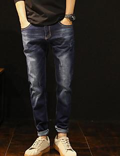 お買い得  メンズパンツ&ショーツ-男性用 ヴィンテージ ジーンズ パンツ ソリッド