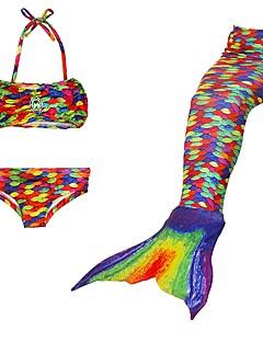 ieftine -The Little Mermaid Costume de Baie / Bikini Crăciun / Mascaradă Festival / Sărbătoare Costume de Halloween Curcubeu Curcubeu Slip rochie