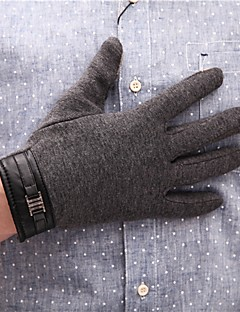 baratos Acessórios de Inverno-Homens Trabalho Até o Pulso Ponta dos Dedos Luvas Sólido