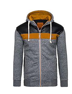 preiswerte -Herren Kapuzenshirt Extraklein Lässig/Alltäglich Einfach Einfarbig Mit Kapuze Ohne Futter Mikro-elastisch Polyester Langärmelige Winter
