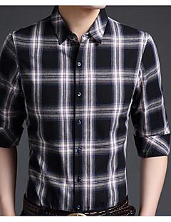 billige Herre Toppe-Herre - Ruder Bomuld Aktiv Skjorte / Langærmet