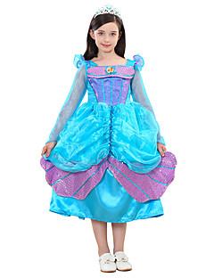 billige Halloweenkostymer-Prinsesse / Cinderella / Eventyr Kjoler Halloween Festival / høytid Halloween-kostymer Turkis Havfrue Halloween