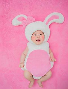 billige Sett med babyklær-Baby Unisex Tøjsæt Jul Fødselsdag Trykt mønster, Bomuld Alle årstider Uden ærmer Sødt Lyserød