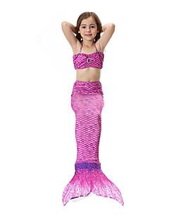 billige Halloweenkostymer-The Little Mermaid Skjørt Halloween Festival / høytid Halloween-kostymer Drakter Rosa / Gylden / Fuksia Havfrue Halloween