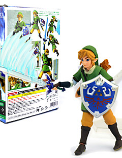 billige Anime cosplay-Anime Action Figurer Inspirert av The Legend of Zelda Link 14 CM Modell Leker Dukke