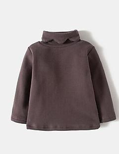 tanie Odzież dla dziewczynek-T-shirt Kaszmir Bawełna Len Dla dziewczynek Jendolity kolor Wiosna Krótki rękaw Vintage Black Blushing Pink Gray Khaki