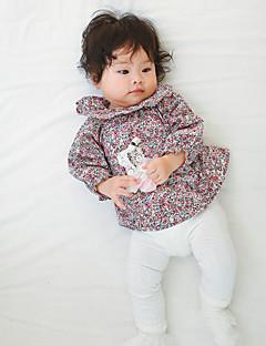 billige Babyoverdele-Baby Pige Bluse Daglig Blomster/botanik Langærmet Skjørte/Bukser Blå Rød