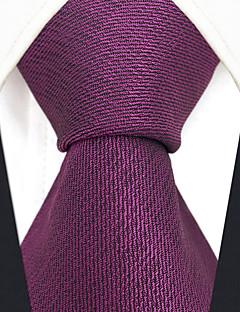 billige Slips og sløyfer-menns festverk rayon slips - solid farget jacquard, kryss-cross