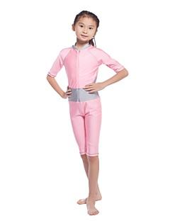 お買い得  女児 スイムウエア-女の子 ソリッド パッチワーク スイムウェア, ナイロン ライクラ ゴールド ピンク