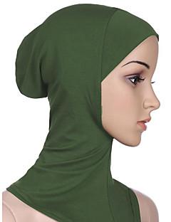 baratos Costumes étnicas e Cultural-Fantasias Egípcias Hijab / Khimar Mulheres Festival / Celebração Trajes da Noite das Bruxas Roxo Azul Ciano Azul Rosa claro Verde Escuro