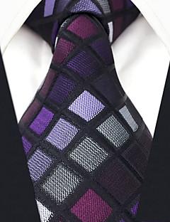 お買い得  ファッションアクセサリー-オールシーズン ヴィンテージ オフィス カジュアル シルク ネクタイ パープル