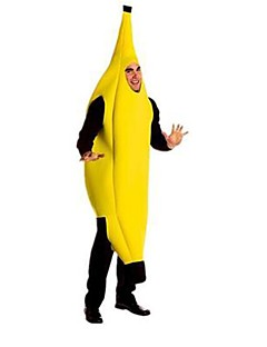 cheap -Banana Cosplay Costume Fancy Costume Party Costume Unisex Halloween Carnival Festival / Holiday Halloween Costumes Yellow Color Block
