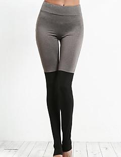 voordelige Damesbroeken-Dames Kanten stiksel Legging - Patchwork Hoge taille