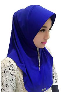 tanie Etniczne & Cultural Kostiumy-Moda Winieta Hidżab Abaya Coffee Brown Czerwony Niebieski Różowy Jedwab Akcesoria do cosplay