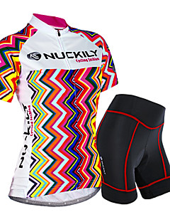 cheap Cycling Jersey & Shorts / Pants Sets-Nuckily Women's Short Sleeves Cycling Jersey with Shorts - Camouflage Floral / Botanical Geometic Bike Shorts Jersey Clothing Suits,